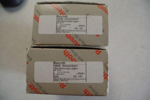 Origin Lot of 2 REXROTH LINEAR BLOCK BEARING R044209401