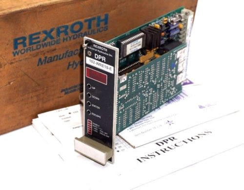 NEW France Australia REXROTH 102-WRE10-E AMPLIFIER CARD W/ SOFTWARE DPR-10 ,102WRE10E