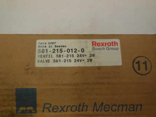 NEW Italy Greece REXROTH 581-215-012-0 SOLENOID 5812150120