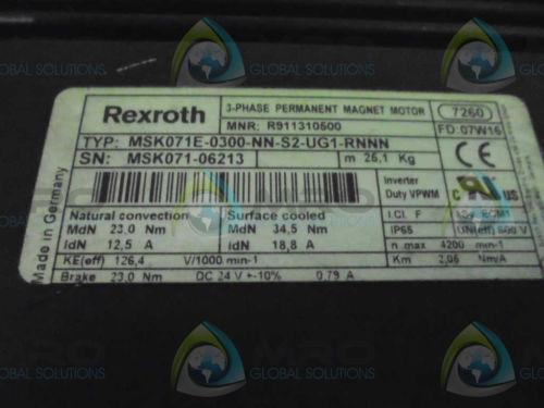 REXROTH Canada France MSK071E-0300-NN-S2-UG1-RNNN SERVO MOTOR *NEW NO BOX*