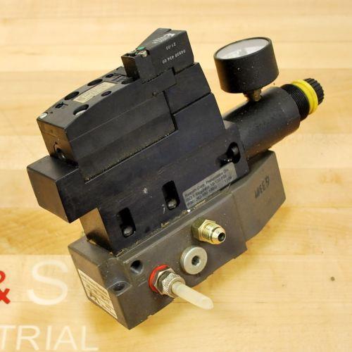 Rexroth 2611-0-9110-1 Pneumatic Valve, 24 VDC 2W Coil, Valve amp; Block - USED