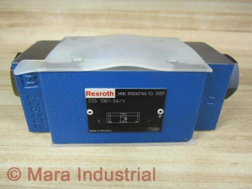 Rexroth China Greece Bosch R900407465 Valve Z2S 10B1-34/V - New No Box