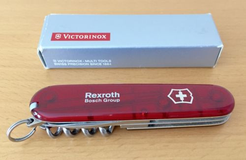 VICTORINOX Canada Egypt Original Schweizer Offiziersmesser rot-transparent Rexroth NEU/OVP