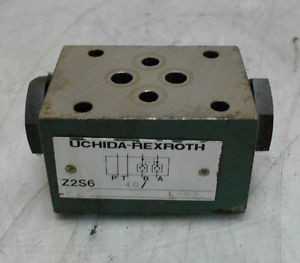 Uchida-Rexroth Hydraulic Check Valve, Z2S6 40, Used, WARRANTY