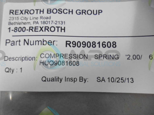 REXROTH Canada Canada R909081608 SPRING *NEW IN ORIGINAL PACKAGE*