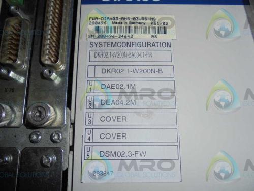 REXROTH France India INDRAMAT DKR02.1-W200N-BA03-01-FW SERVO DRIVE *NEW IN BOX*