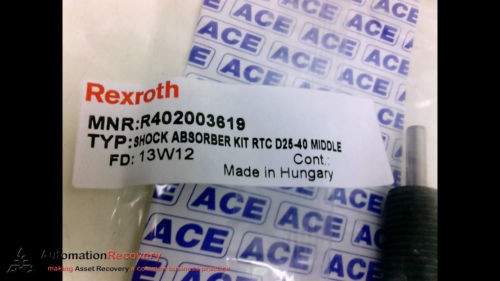 REXROTH Russia Germany R402003619 SHOCK ABSORBER RTC D25-40 MIDDLE, NEW