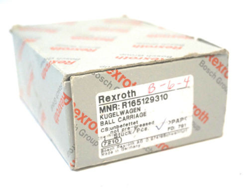 NEW Russia USA REXROTH R165129310 BALL CARRIAGE
