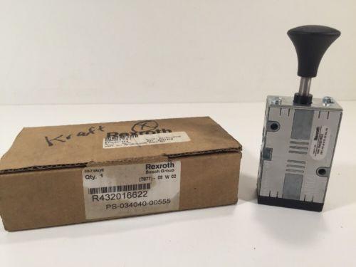 Rexroth R432016622 Manual Air Control Valve 4-Way 5 Ports 2 Position