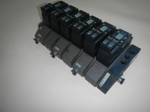Rexroth 261-108-120-0 6 Valve Unit Pneumatic Valve
