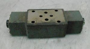 Uchida-Rexroth Hydro Norma Z2FS 6-31 Solenoid Check Valve Base Block, Used