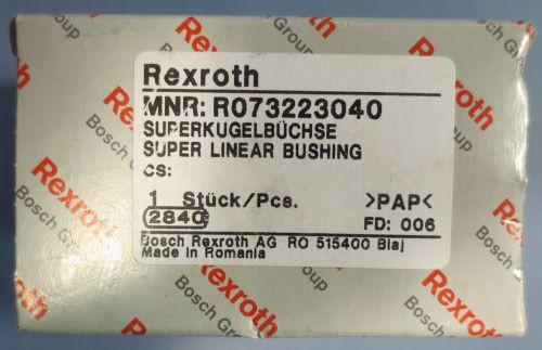 Rexroth Super Linear Bushing Model R073223040 1-1/4#034; Bore 1-3/4#034; OD NIB