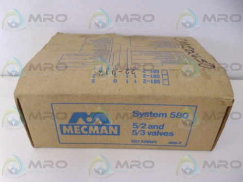 REXROTH MECMAN 581-2 22-012 PNEUMATIC VALVE ASSEMBLY Origin IN BOX