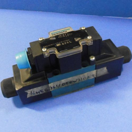 REXROTH 4-WAY DIRECTIONAL CONTROL CHECK VALVE 4WE6D61/OFFW11ON9 DXX K25L