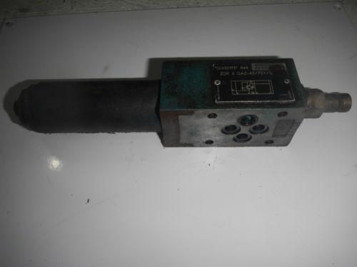 Rexroth ZDR6DA2-43/75Y/12 D03 Hydraulic Reducing Control Valve