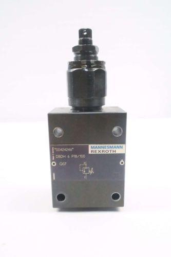 REXROTH DBDH 6 P18/100 MANNESMANN PRESSURE RELIEF HYDRAULIC VALVE D549961