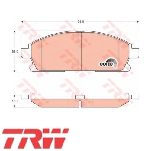 TRW Bremsbelagsatz Bremsbeläge Bremsklötze Vorn NISSAN GDB3293
