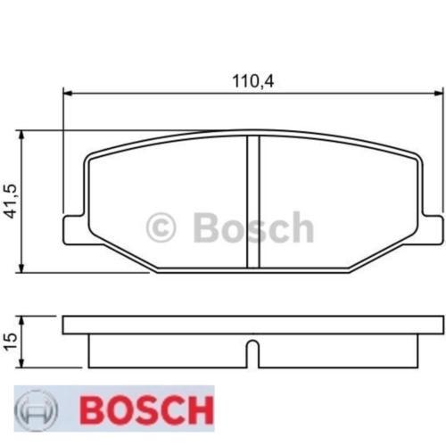 Bremsbelagsatz Bremsbeläge Bremsklötze BOSCH BP505 21142 7540D660 0986460935
