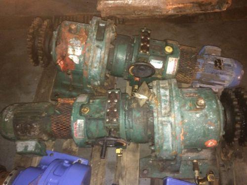 SUMITOMO HAMN 2 3185/14 2 SM-BEIER CYCLO VARIATOR 174 RATIO 2 HP MOTOR