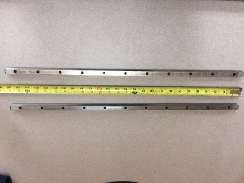REXROTH  2 Rails  Guide Linear bearing CNC Route  model 7873 7210 13Q 26#034; L x 1/