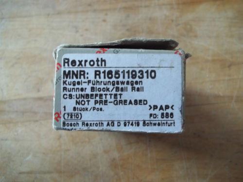Origin IN BOX REXROTH ALUMINUM LINEAR BEARING RUNNER BLOCK R165119310 7210