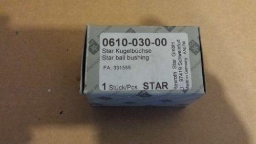 Origin Rexroth Star Linear Bearing Ball Bushing Actuator 0610-030-00