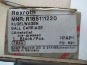 Origin IN BOX REXROTH R165111220 LINEAR BEARING BALL CARRIAGE