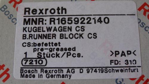 Rexroth 05  Bosch Rollenwagen Führungswagen Linearführung  R165922140
