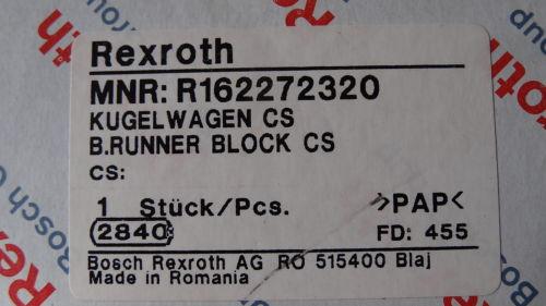 Rexroth 08  Bosch Rollenwagen Führungswagen Linearführung  R162272320
