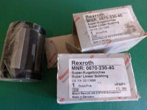 1 Lot of 2 Rexroth MNR0670-230-40 Supper Linear Bushings