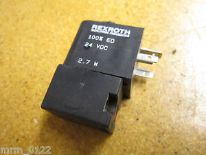 Rexroth Solenoid Valve Coil 24VDC 27W 100%ED Used With Warranty