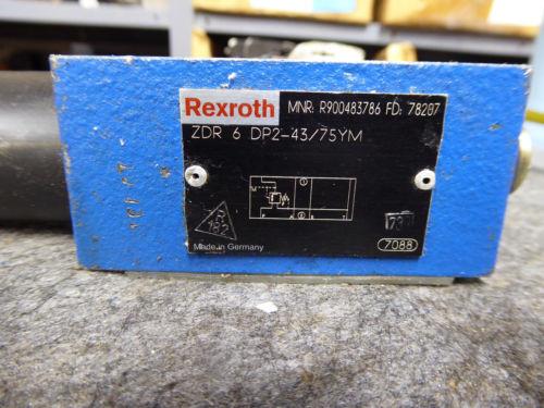 Origin REXROTH PRESSURE REDUCING VALVE # ZDR6DP2-43/75YM