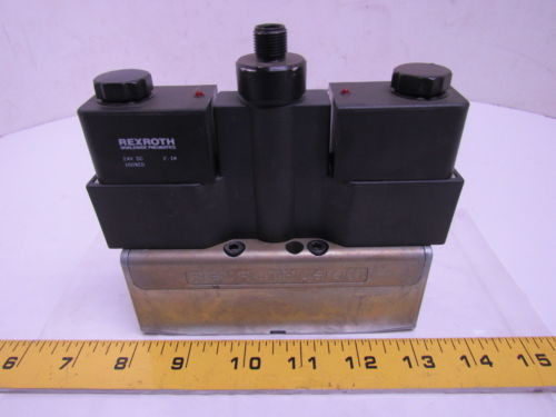 Rexroth GT10062-0909 2-Position Double Solenoid Valve 24VDC 4-Pin ISO 1
