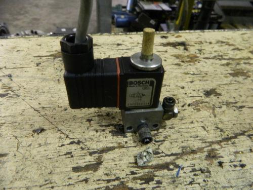 Bosch Rexroth Solenoid Valve, P/N 0820019014, W/ 1824210060 24VDC Coil, Used