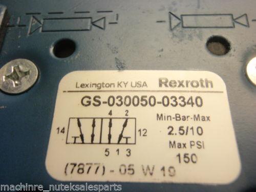 Rexroth Ceram Valve GS-030050-03340 _ GS03005003340 _ GS-O3OO5O-O334O