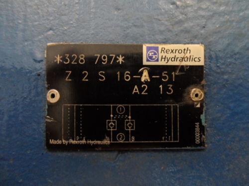 REXROTH HYDRAULIC VALVE Z2S 16-A-51 A2 13 VALVE  Z2S16151 A213