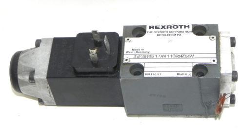 REXROTH 3WE6B951/AW110RNZ55V DIRECTIONAL VALVE 3WE6B951