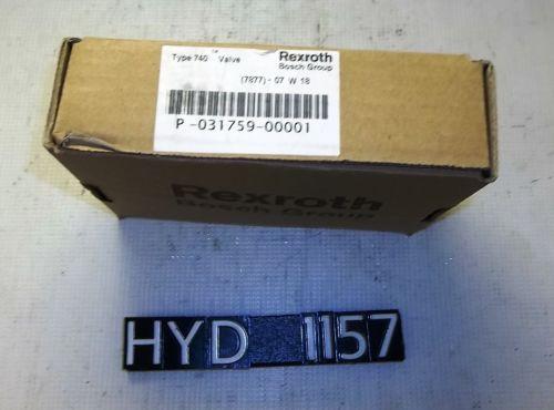 Origin Rexroth P-031759-00001 Type 740 Pneumatic Valve HYD1157