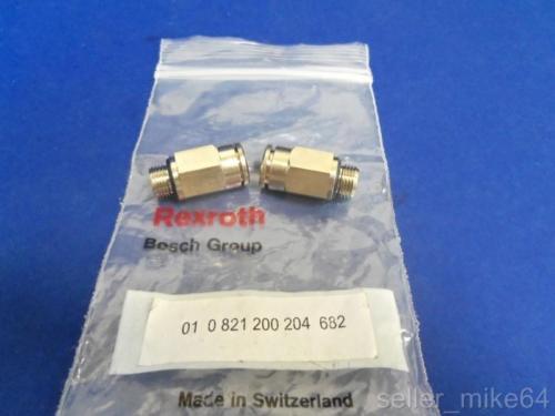 BOSCH REXROTH 01-0-821-200-204-682 FLOW CONTROL VALVES, LOT OF 2, Origin IN BAG