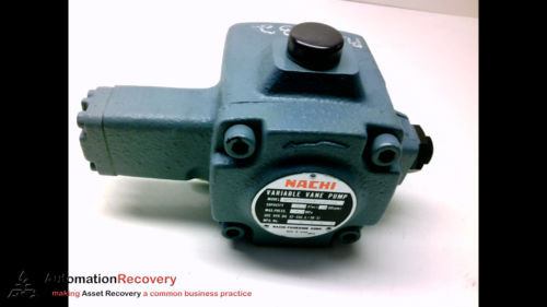 NACHI VDR-1A-1A3-Q11-6124A VARIABLE VANE PUMP  1800 RPM MAX #183363