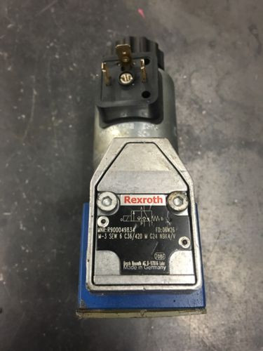 REXROTH 3-WAY POPPET SOLENOID Hydraulic VALVE R900049834 Free Shipping