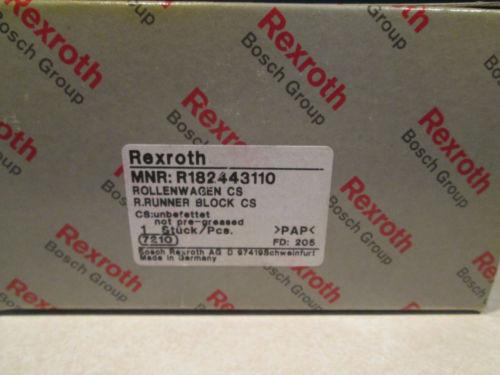 REXROTH LINEAR SLIDE BEARING R182443110 ROLLENWAGEN RRUNNER BLOCK CS