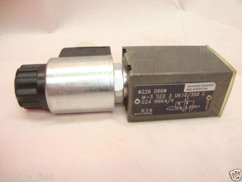 Origin Rexroth M-3 SED 3 UK10/350 C G24 N9K4/V Hydraulic Directional Valve