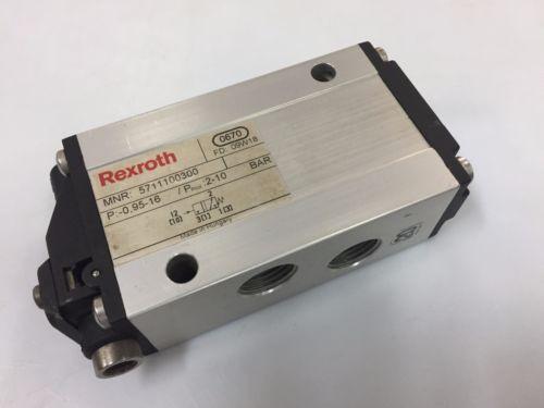 REXROTH 5711100300 Piloted Air Control Valve 3/2 WAY 1/2 in 095-16 bar