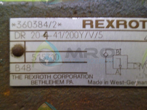 REXROTH DR 204-41/200Y HYDRAULIC VALVE USED