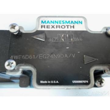 MANNESMANN REXROTH 4WE6D61/EG24N9DA/V 24 VDC HYDRAULIC VALVE