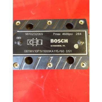 Bosch Hydraulic Valve Model O81WV10P1V1000KA115/60  9810232069