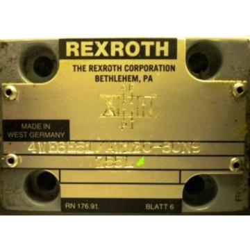 REXROTH Canada Japan VALVE 4WE6E51/AW120-60N9