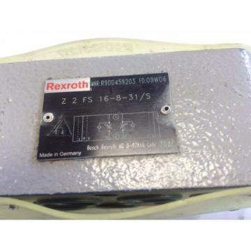 NEW Canada Australia REXROTH Z2FS 16-8-31/S, 09W06,  R900459203 HYDRAULIC FLOW CONTROL VALVE AO