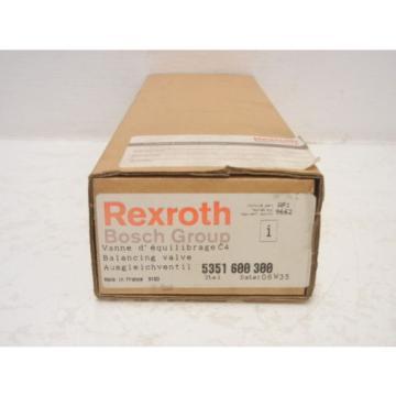 REXROTH Greece Korea BOSCH 5351 600 300 NEW BALANCING VALVE 5351600300